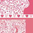 Valentine banners set — Stockvectorbeeld