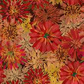 Papier tekstura wzór kwiatowy — Zdjęcie stockowe