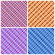 Set of 4 seamless pinstripe pattern. — Stock Vector
