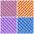 Stock Vector: Set of 4 seamless pinstripe pattern.