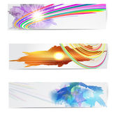 Abstract trendy banner or header set. — Stock Vector