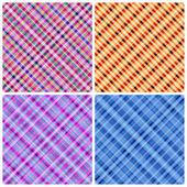 Set of 4 seamless pinstripe pattern. — Stock Vector