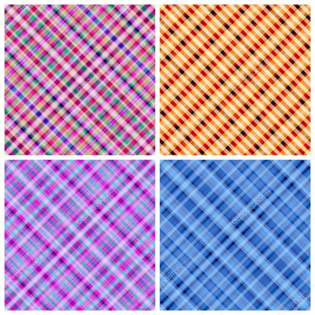 Set of 4 vector seamless pinstripe pattern. — Stock Vector #10559637