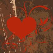 Grunge tasarım ile soyut kalp. — Stok Vektör