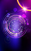 Abstract lens flare background. — Stock Vector