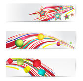 Abstract colorful web banner set. — Stock Vector