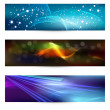 Set of elegant iridescent banners. — Stock Vector #9836040