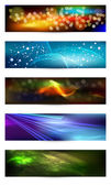 Set of elegant iridescent banners. — Stock Vector