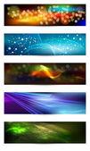 Set of elegant iridescent banners. — Stock Vector