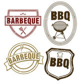 BBQ Stamping — Stock Vector