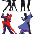 Couples on the dance floor - Stock Vector