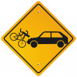 Caution cyclists - Stockvectorbeeld