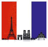 France with Flag — Stock Vector