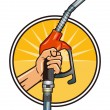 Fill up economically - Imagen vectorial