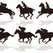 Six riders — Stock Vector