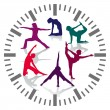 Stock Vector: Gym hours