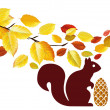 Royalty-Free Stock Imagem Vetorial: Squirrels in the woods