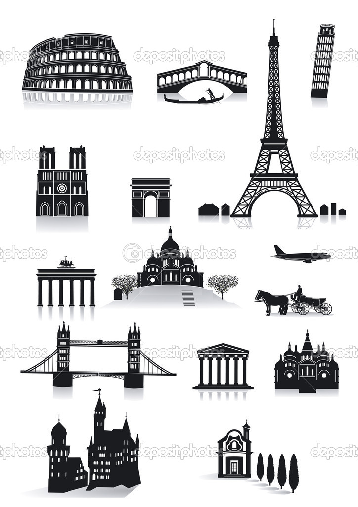 Sightseeing building vector illustration  Stock Vector #8545928