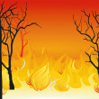 Stock Vector: Forest fires