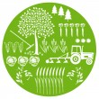 Agriculture and Natural — Stock Vector