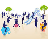 Children on the Playground — Stock Vector
