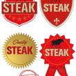 Steak Label — Stock Vector