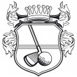 Golf club coat of arms - Stockvectorbeeld