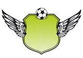 Soccer shield — Vector de stock