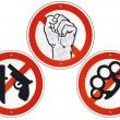 Stock Vector: No violence no weapons