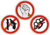 žádné násilí žádné zbraně — Stock vektor