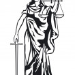Statue of justice — Vector de stock #9424198