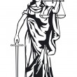 Stock Vector: Statue of justice