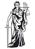 Statue of justice — Vector de stock