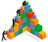 Gebouw en uitbreiding — Stockvector