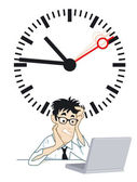 Frustrating time — Stock Vector