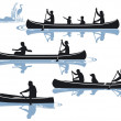 Canoeing — Stock Vector #9778334
