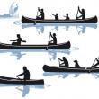 Canoeing — Stock Vector