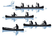 Canoeing — Stock Vector