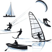 Water sports — Stockvector