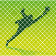 Stock Vector: Goalkeeper