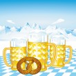 Bavarian beer — Stock Vector