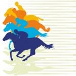 Gallop race — Stock Vector #9984019