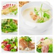 Meat, salad and other food — Stock Photo #9626623