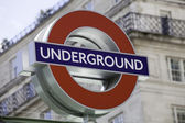 London Underground roundel sign — Stock Photo