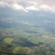Aerial view of landscape from airplane — Stock Photo