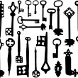 Stock Vector: Old fashioned skeleton keys