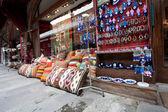Showcase of souvenir shop — Stock Photo