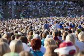 Duży tłum — Zdjęcie stockowe