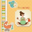 Baby  shower card - Foto de Stock