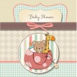 New baby shower card with toys — Stock Photo #10148200